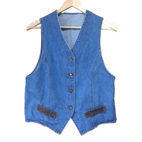 Vintage Jackets & Blazers - Vintage 80's Denim Vest by Topaz